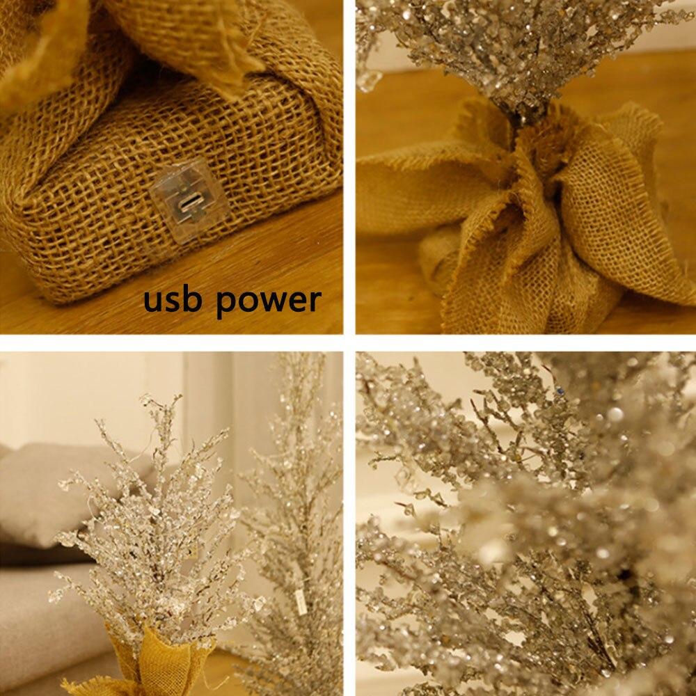 Хрустальный ледяное дерево светодиодный ночник USB мощность украшения дома Дерево атмосферная настольная лампа Освещение для дома и свадьб... - 5