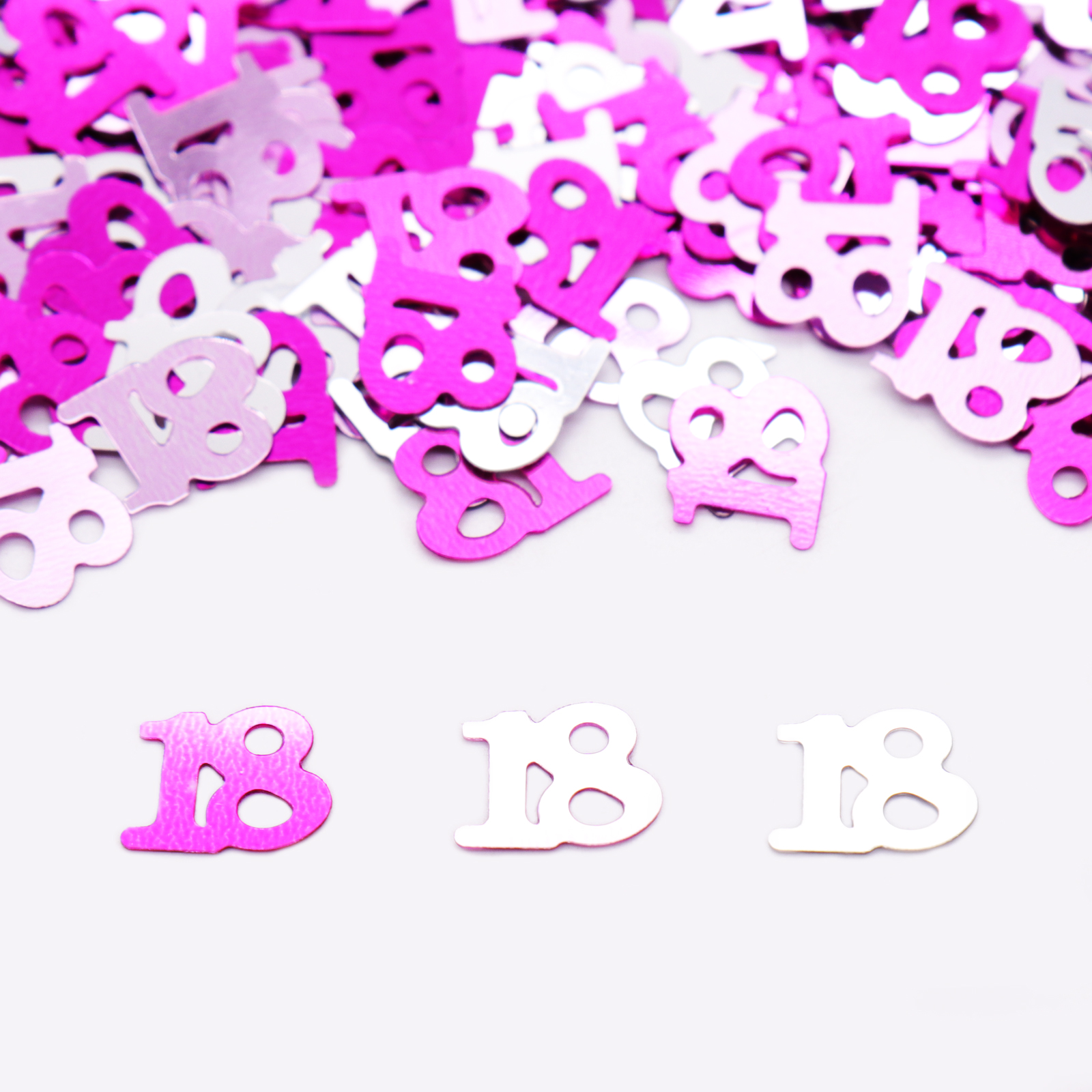 15g/bag Pink Happy birthday party letter <font><b>confetti</b></font> 16,18,20,<font><b>30</b></font>,60,80 number acrylic <font><b>confetti</b></font> birthday party wedding decorations image