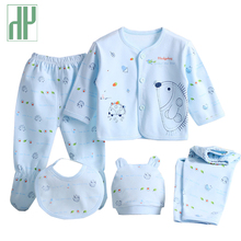 HH 5pcs/set newborn clothes 0-3M newborn baby girl clothes 100% Cotton Cartoon baby boy overalls long sleeves infant clothing
