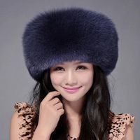 5 Colors 2017 Fashion Women winter hat The big integral skin fox fur cap Mongolia hat Well known brands of high quality Real fur