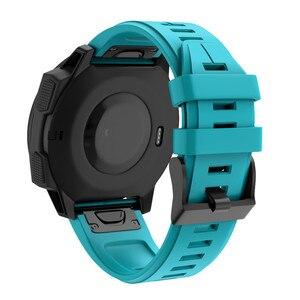 Image 4 - ساعة يد من Garmin Fenix 5 مصنوعة من السيليكون مزودة بشريط لغريزة Garmin حزام بديل للمعصم