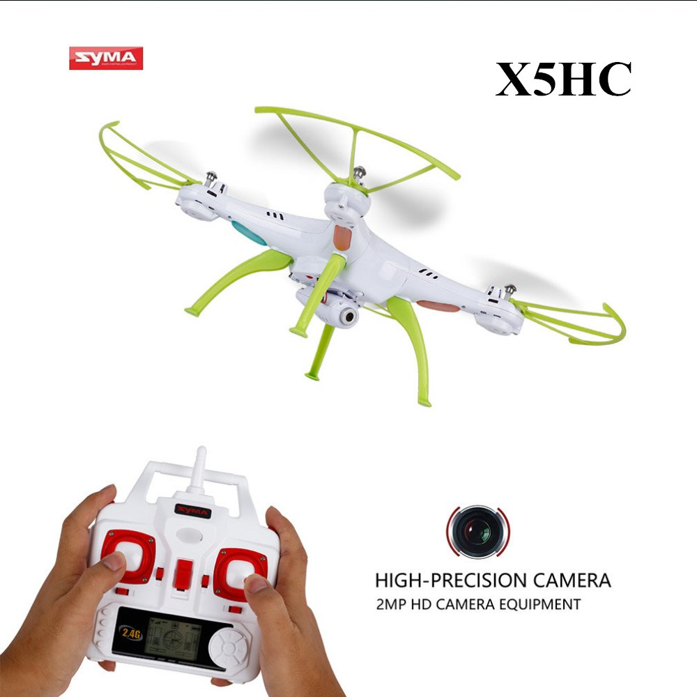SYMA Drone with Camera HD X5HC (X5C Upgrade) 2.4G 4CH RC Helicopter Quadcopter, Dron Quadrocopter Toy VS Syma X5C X8W X8HC X8HW syma x5 x5c x5c 1 explorers new version without camera transmitter bnf