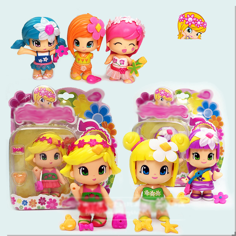 Girl Toy Figures : Lovely pinypon scented dolls toys detachable kids action