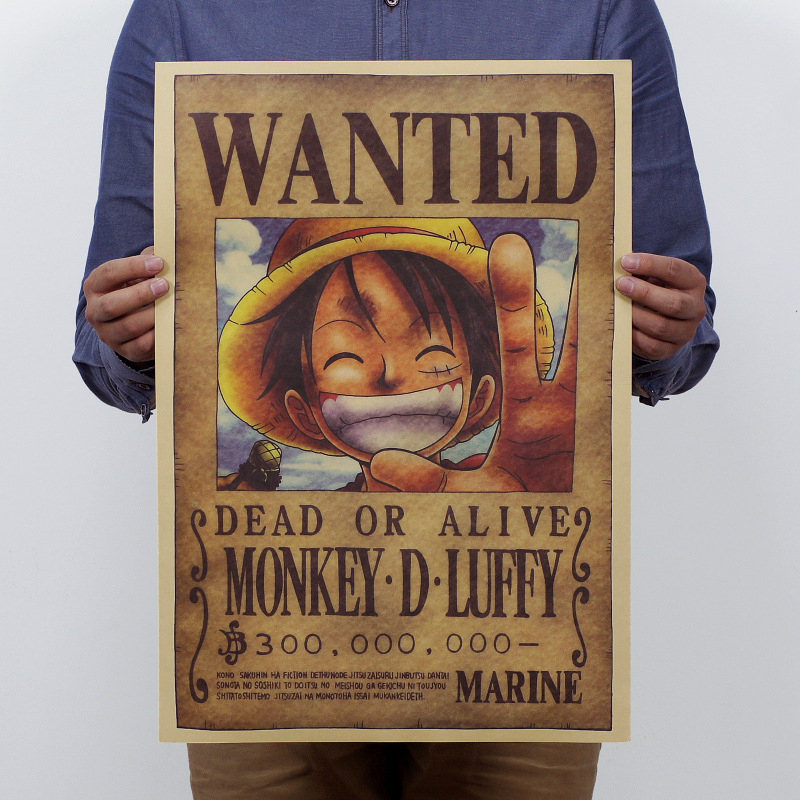 One Piece Luffy Vintage Kraft Paper Classic Cartoon Poster Home Decoration  Art Magazines  Retro Posters And Prints