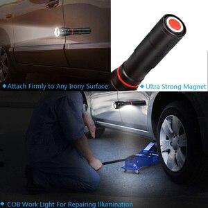 Image 4 - LED 8000 Lumens T6 poche lampe de poche tactique COB lanterne magnétique 6 Modes résistant à leau pour télescopique focalisant la lumière de travail