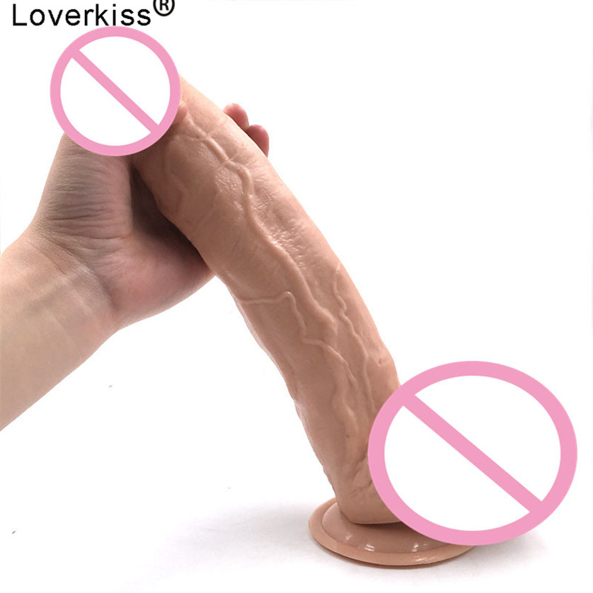 Loverkiss Extremely Super Big Dildo Realistic Huge Dildos 2.4*11.8 inch Suction Cup Dildo Sex Toys for Woman Penis Anal Dilldo faak simulator animal penis artificial dog dildo suction cup anal butt plug big realistic dildos adult sex toys for woman