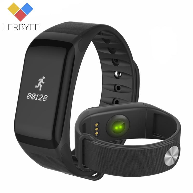 Lerbyee Fitness Tracker F1 Anruf Erinnerung Smart Armband Blutdruck Schlaf Monitor Bluetooth Aktivität Tracker für iPhone Geschenke
