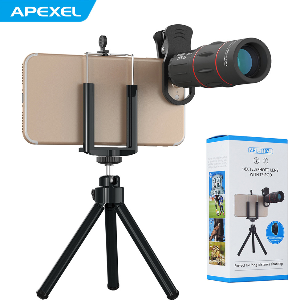 APEXEL 18X Telescope Optical Zoom Mobile Phone Lens for iPhone Samsung XIAOMI Sm