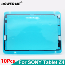 Dower لي 10 قطعة/الوحدة الجبهة الإطار ملصق lcd شاشة عرض للماء لاصق لسوني اريكسون اللوحي z4 SGP771 SGP712