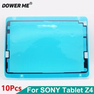 Image 1 - Dower لي 10 قطعة/الوحدة الجبهة الإطار ملصق lcd شاشة عرض للماء لاصق لسوني اريكسون اللوحي z4 SGP771 SGP712