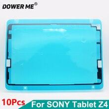 Dower Me 10 개/몫 전면 프레임 스티커 LCD 스크린 디스플레이 방수 소니 Xperia 태블릿 Z4 SGP771 SGP712