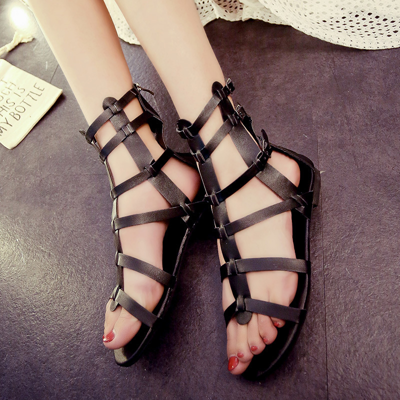Fashion Women Pu Leather Summer Shoes Gladiator Style Summer Women Shoes  35