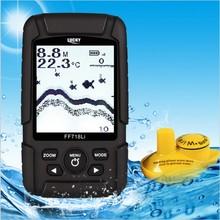 LUCKY 540ft/180m depth Fishfinder Sonar Transducer Wireless Sensor for fishing Portable Waterproof deeper Fish Finder FF718Li-W
