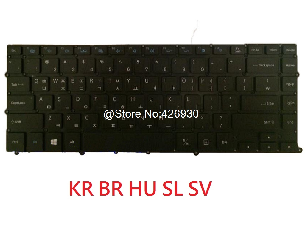 Laptop Keyboard For Samsung NP900X4B NP900X4C NP900X4D 900X4B 900X4C 900X4D Brazil BR Slovenian SL Korea KR Hungary HU New russian new laptop keyboard for samsung np300v5a np305v5a 300v5a ba75 03246c ru layout