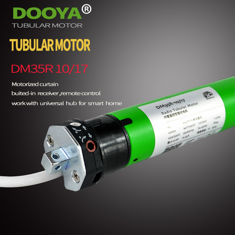 High Quality Original Dooya Tubular Motor 220V 50MHZ DM35R  Motorized Rolling Blinds Biulted -in Receiver 433MHz For Smart Home