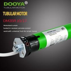 Hohe Qualität Original Dooya Rohr Motor 220V 50MHZ DM35R Motorisierte Jalousien biulted-in empfänger 433MHz für smart home