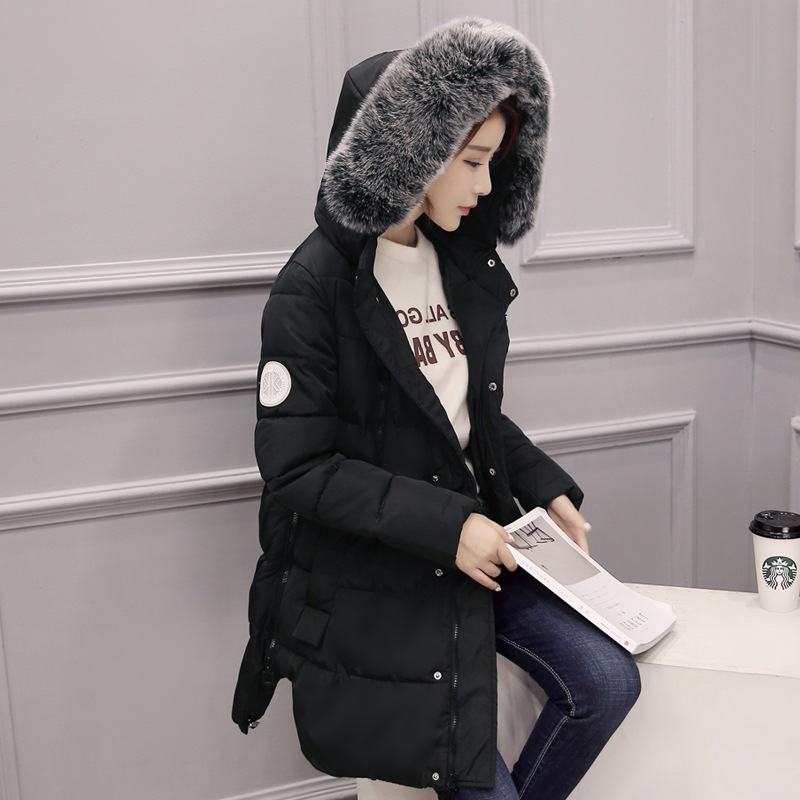 ФОТО Women's Black Red Large Size raccoon fur hooded coat parkas outwear long detachable lining winter jacket Warm Maternity Coat