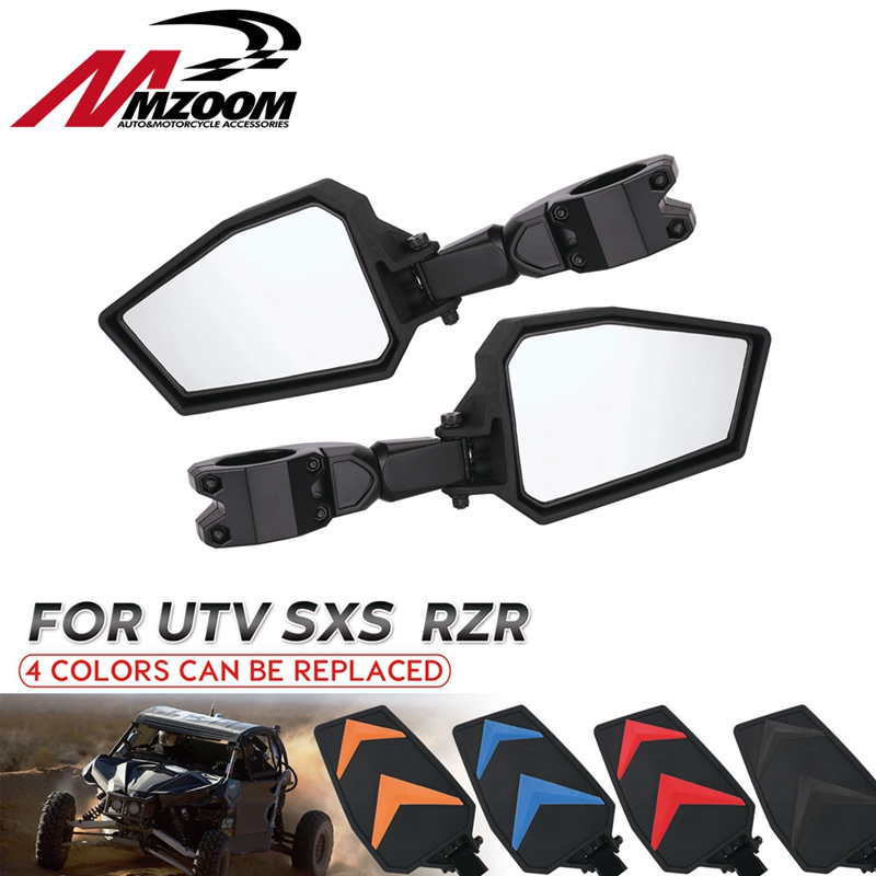 """1.75"""" Rearview Mirrors UTV Side Adjustable Mirror Set wide mirror for Polaris RZR XP900 XP1000 XP 1000