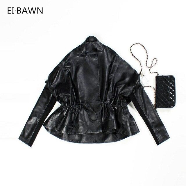 Leather Jacket Sheepskin Coat Spring Autumn 2019 Plus Size Real Leather Jacket Black Female Jackets Women Lady Leather Jackets