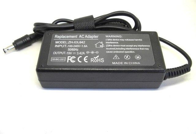 19V 3.16A 60W AC Laptop Power Adapter Charger For Samsung GT8000 8100 GT8600 GT8600XT GT8650 GT8650XT GT8700 7.4mm * 5.0mm