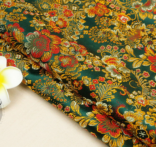patchwork floral brocade fabric damask jacquard apparel costume