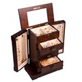 New 2016 Fashion High quality Wood Box Storage Case for Jewelry Women Makeup gift for girl 2 Color HB82378