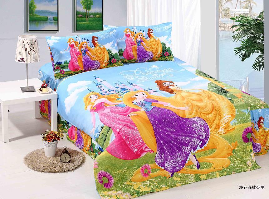 bright color princess bedding sets single twin size bedclothes bed quilt duvet covers sheets. Black Bedroom Furniture Sets. Home Design Ideas
