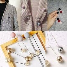 Многофункциональные модные броши с искусственным жемчугом для девочек, булавка для свадьбы, «сделай сам», зажим для шарфа, кардигана, булав...