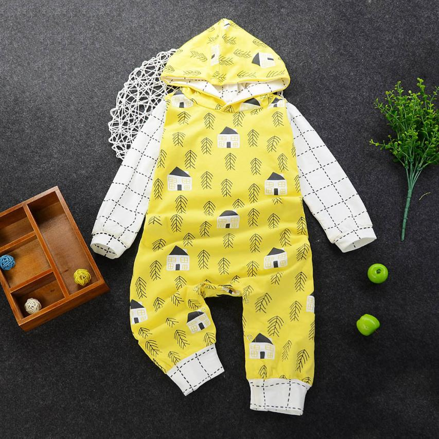 6M-24M spring Baby rompers Newborn Cotton tracksuit Clothing Baby Long Sleeve hoodies Infant Boys Girls jumpsuit baby clothes baby rompers cotton long sleeve 0 24m baby clothing for newborn baby captain clothes boys clothes ropa bebes jumpsuit custume