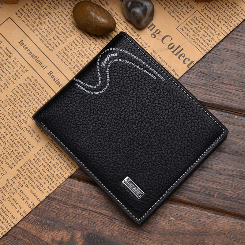 Wallet Factory Direct Custom LOGO Coin Purses Holders Male Clutch Sevjink Korean Men Short Litchistria Soft Trend factory direct new caddy italics opening film ru ru ceramic sealing cans support custom logo