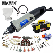цена на MAXMAN 220V/110V Electric Mini Die Grinder Dremel Tool 0.6~6.5mm Chuck Variable Speed Rotary Tool DIY Multi Power Tools