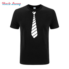 2016 New Summer Novelty Men T Shirts tie man's Tees Funny Camisetas Men O Neck Top Tshirt Casual Fitness Mens Clothing