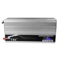 Чистая синусоида мощность инвертор 6000 Вт DC 12 В в к AC В 220 В Солнечный ветер мощность инвертор пиковая мощность Вт 12000 Вт Инвертор