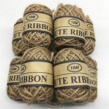 2Roll 10M Natural Brown Jute Hemp Rope Twine String Cord Shank Craft Making DIY Gift Decoration