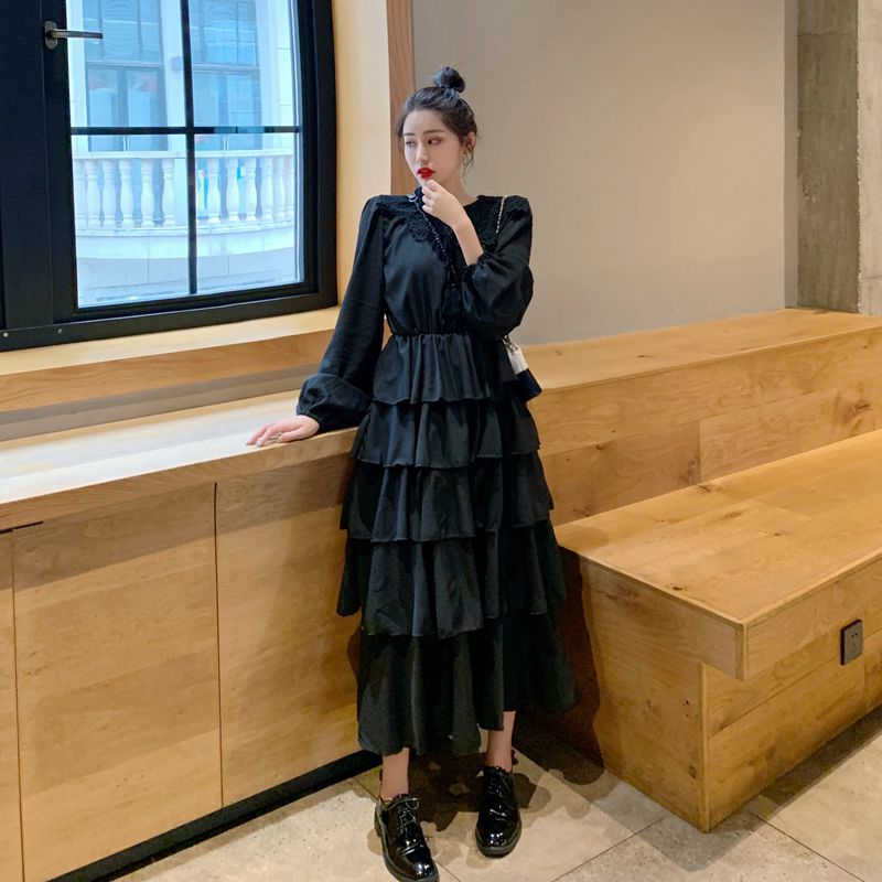 HziriP 2019 夏秋シンプルなカスケードフリルランタンスリーブロングシャツ女性のエレガントソリッドセクシーな女性パーティーブラウス