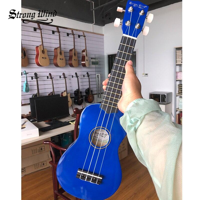 81aca7cd95 Strong Wind Soprano Ukulele 21 Inch Ukulele Mini Acoustic Guitar Hawaii Uku  for Beginner Kids Brown ...