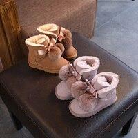 New 2018 Children Boots Australia Waterproof Girls Boys Snow Boots Baby Winter boot Fur Warm Boots for Kids Size 21 35