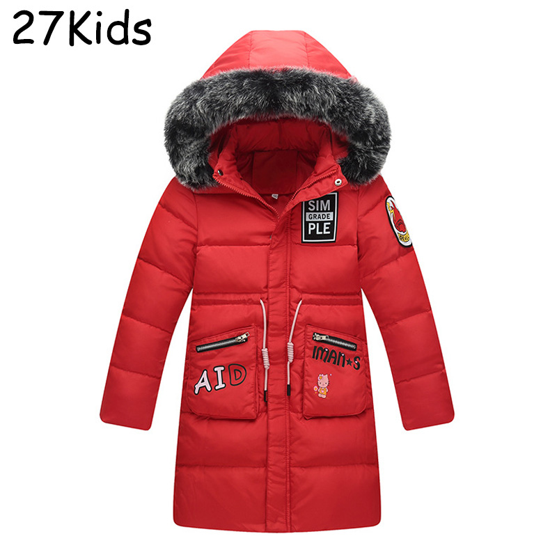 New Brand Winter Jacket Girl 90% White Duck Down Jacket Hooded Parkas Kids Down Jacket Teenagers Boys Thickening Outerwear Coat russia winter boys girls down jacket boy girl warm thick duck down