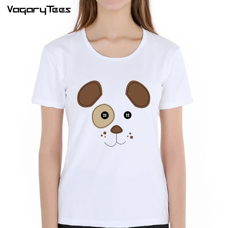 2019 summer new women T-Shirt Funny <font><b>tshirt</b></font> The cartoon <font><b>dog</b></font> face funny Cartoon print <font><b>Unisex</b></font> t shirt image