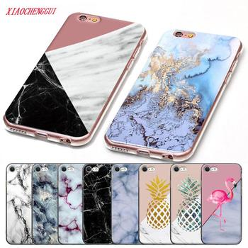 For iphone 7 case Marble Soft TPU  Silicone high quality Cover Case For iPhone 5 5S SE 6 6S 7 8 Plus X Coque iPhone