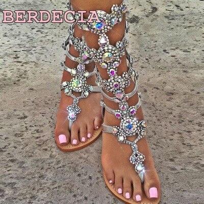 Außenhandel Sandalen Neue Kristall Größe Diamant Picture Böhmen Frauen Sommer As Schuhe Clip Großen Heels 2018 Bling High Flachen Füßen wIqAqd7