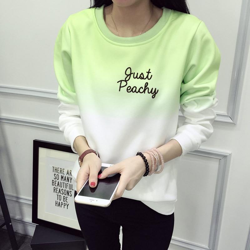 e040bda6ea7 Detail Feedback Questions about Just Peachy Crewneck Sweatshirt Winter Women  2016 Cotton Letter Pullovers Sweatshirt Women Plus Size Print Tracksuit  Hoodies ...