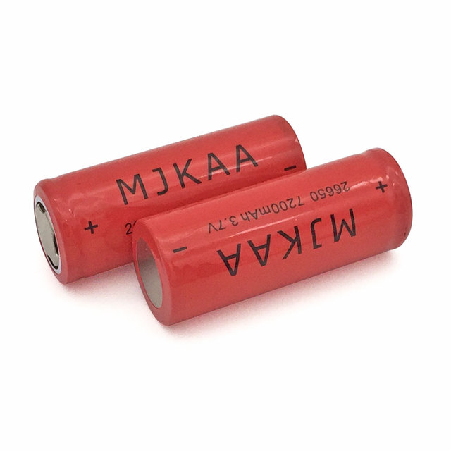 1pcs Red 7200mah 26650 Rechargeable Battery 3.7v Lithium li-ion batteries for Flashlight laser