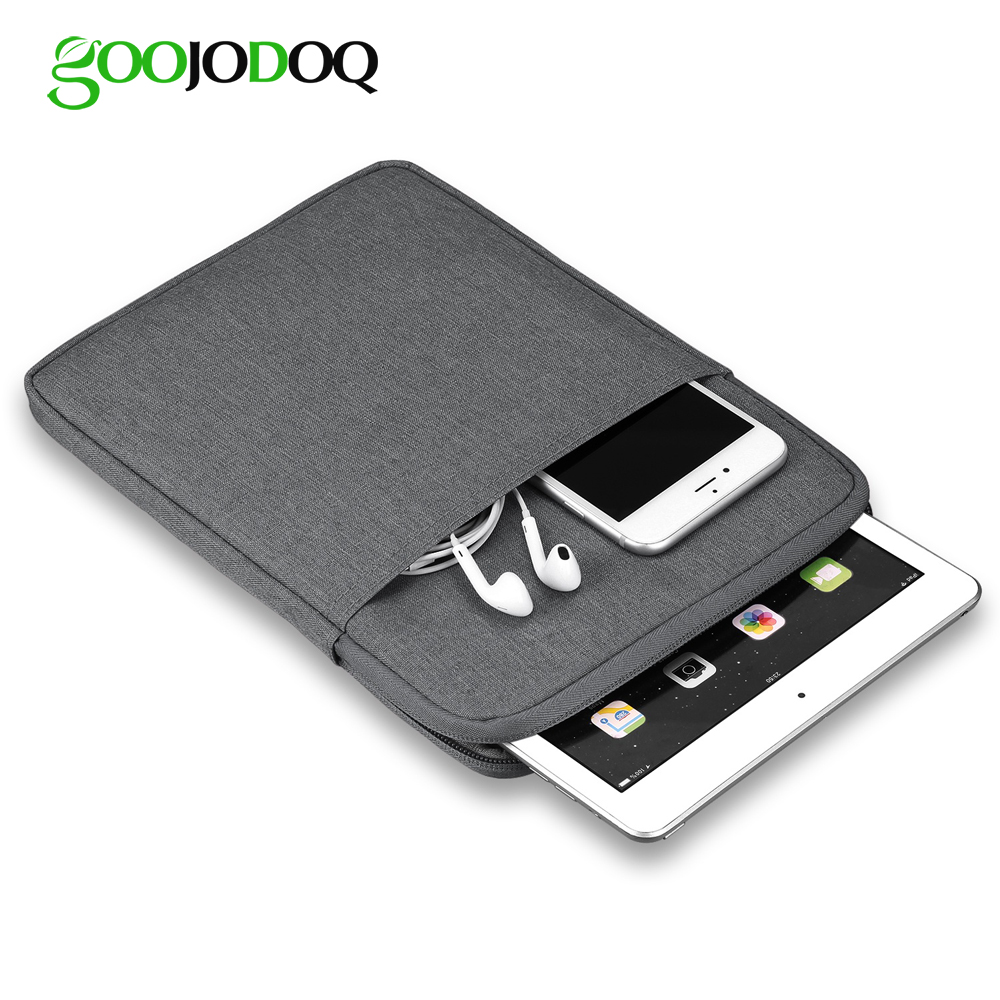 Tablet Case Sleeve For iPad 2018 2017 9.7 Bag Cover, GOOJODOQ Shockproof Protective Tablet Pouch for iPad Pro 11 Case 2018 цена