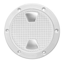4 Inch Speed Boat Round Plate ABS Durable Deck Hole Anti Corrosive Inspection Access Accessories Hatch Cover Non Slip White