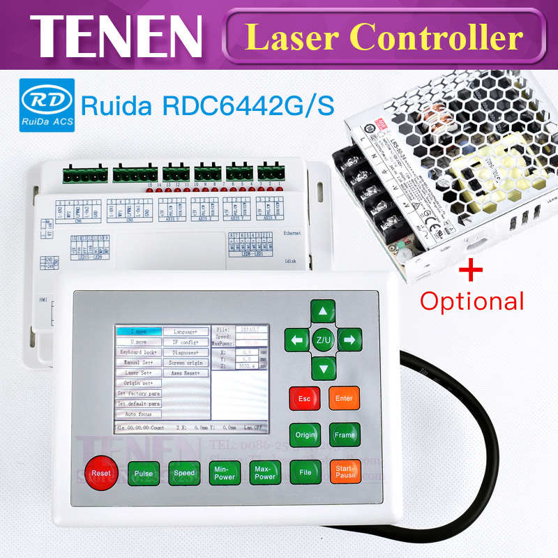 Ruida RD 6442 RDC6442G RDC6442S DSP CO2 Laser Controller System Card Panel Switching Power Supply For Engraver Cutting MachineRuida RD 6442 RDC6442G RDC6442S DSP CO2 Laser Controller System Card Panel Switching Power Supply For Engraver Cutting Machine