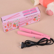 Pink Ceramic Hair Crimper Crimping Iron Mini Perm Splint Hairdressing Tool Salon Free Shipping