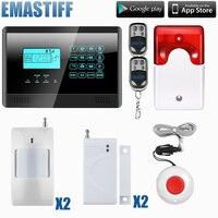 Sıcak Satış Ücretsiz Nakliye toptan Kablosuz GSM Alarm Sistemi 433 MHz Ev Hırsız Güvenlik Alarm Sistemi ile flaş siren