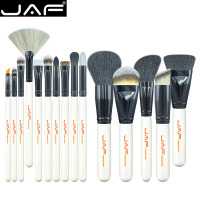 JAF Brand 15 PCS Makeup Brush Set Professional Make Up J1501M W Beauty Blush Foundation Contour