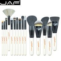 JAF Brand 15 PCS Makeup Brush Set Professional Make Up J1501M W Beauty Blush Foundation Contour